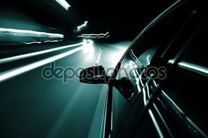 ночь диск с автомобилей в движении