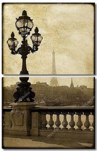Фонарный столб на мост Александра iii в Париже, Франция