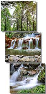 Каменистое русло водопада