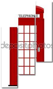 Лондон Телефон окно, векторные иллюстрации