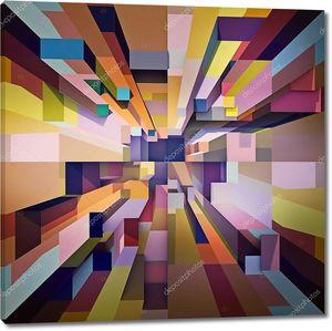 Абстрактный фон из разноцветных элементов