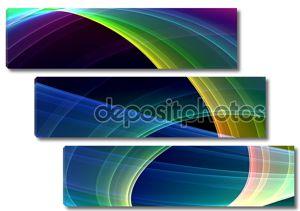 Абстрактный фон разноцветных линий
