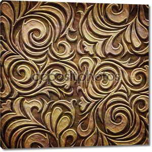 Золото металлический шаблон на бумаге backgrond