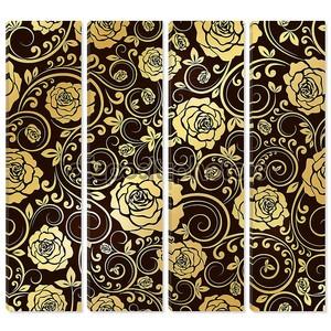 Золотой орнамент роз