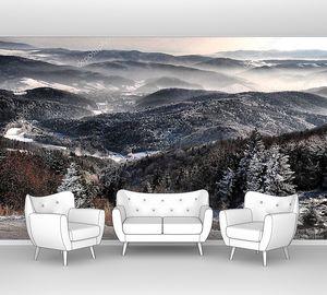 Зимний пейзаж в предгорье
