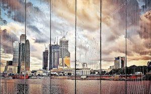 Московский городской пейзаж на закате