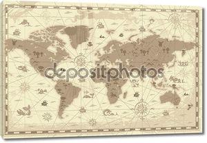 древняя мировая карта