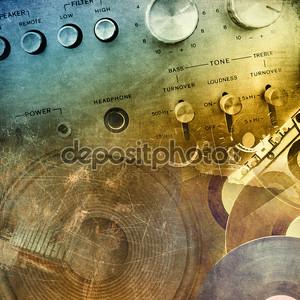 Музыкальный гранж фон