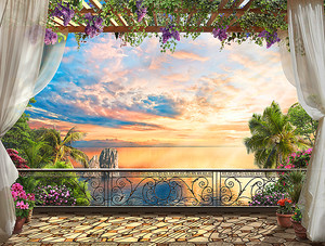 Вид на закат с балкона на юге