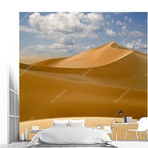 Ливийская пустыня. густой золотой песок, дюны и прекрасным песчаным