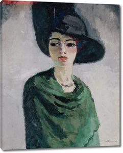 Ван Донген Кес. Женщина в черной шляпе