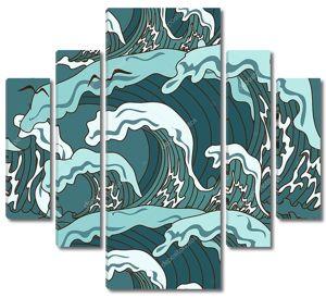 Волны океана в азиатском стиле