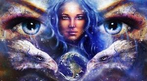 Богиня в пространстве со звездами