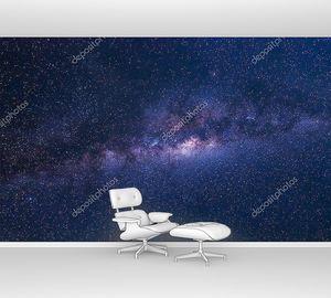 Млечный путь с звездами и космической пыли