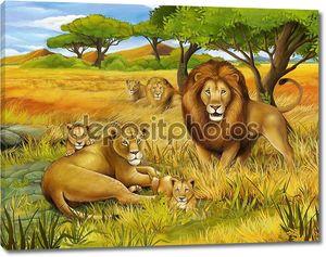 Сафари - иллюстрации для детей