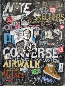 городского коммерческого искусства и граффити