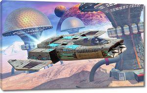 Космического истребителя и пустыни город