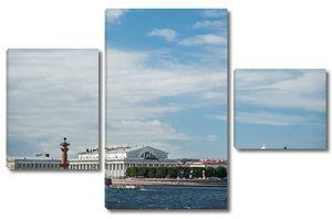 Вид на стрелку Васильевского острова