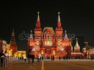 Красная площадь в ночь, Москва, Россия