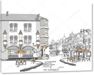 Старый город с кафе
