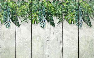 Пальмовые листья по верхнему краю