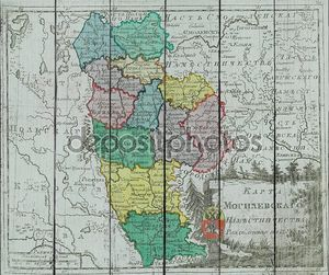 Старая карта России с губерниями