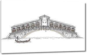 Венеция иллюстрации, мост всех любителей, эскиз коллекции