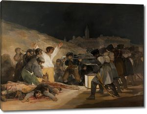 Франсиско де Гойя и Лусиентес. 3 мая 1808 года в Мадриде. Расстрелы на холме Принсипе Пио