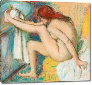 Дега - Обнаженная дама, Женщина, вытирающая ногу