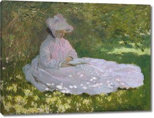 Моне Клод. Читающая женщина, 1872