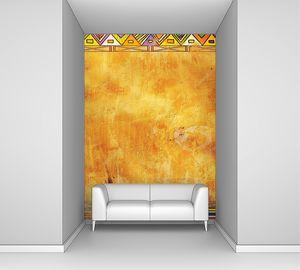 Фон обрамленный рамкой в африканском стиле