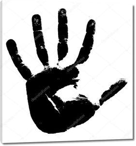 черный оттиск руки