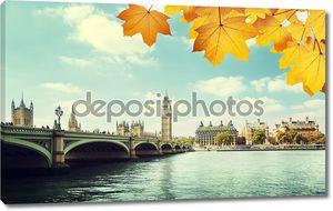 Осенние листья и Биг Бен, Лондон