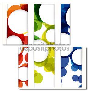 Абстрактный вертикальный баннер с формами пустые кадры для вашего www