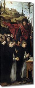 Кук ван Альст Питер. Одиннадцать молящихся со св. Иаковом Старшим