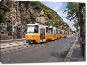 Желтый трамвай в Будапеште