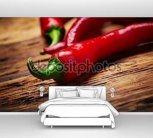 Чили перец на столе
