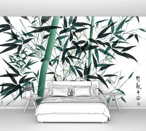 Бамбуковая чернильная живопись