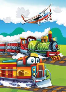 Паровоз и Летающая машина
