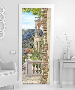 Красивый вид с лестницы