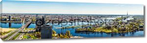 Панорама города Риги. Латвия