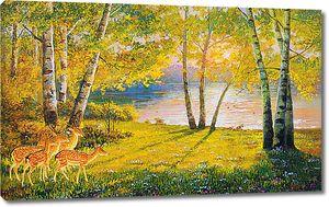 Оленята на реке