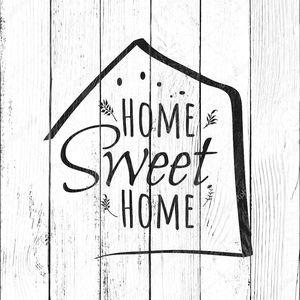 Дом сладкий. Типография уютный дизайн для печати на плакат, т с