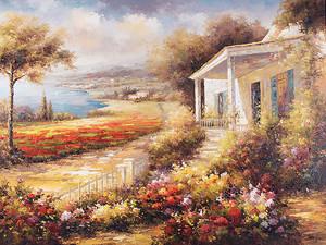 Красивый сад перед домом