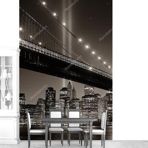 Черно-белое фото Нью-Йорка