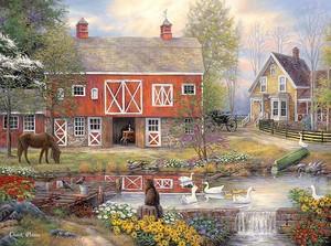 Ферма и пруд