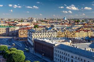 Живописный вид на город Санкт-Петербург