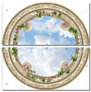Вид на круглую балюстраду снизу