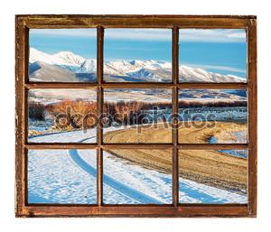 Ветреной дороге и снежные горы