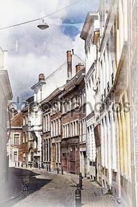 улицы города Гент, Бельгия